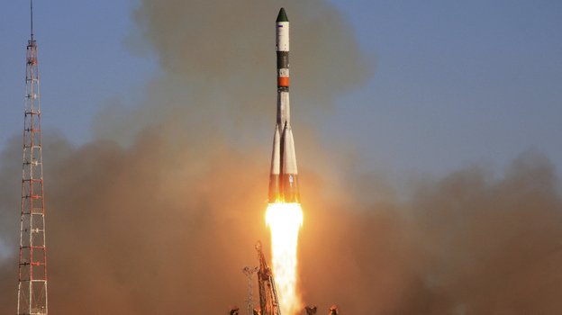 Russia's unmanned Progress space freighter, headed for the International Space Station, blasts off from the Baikonur Cosmodrome in Kazakhstan, Oct. 30, 2011. A string of mission failures has raised concerns over the reliability of Russia's space program. (Reuters /Landov)