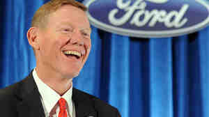 Journalist Bryce Hoffman describes Ford CEO Alan Mulally as an older version of Ron Howard's character from the sitcom Happy Days.