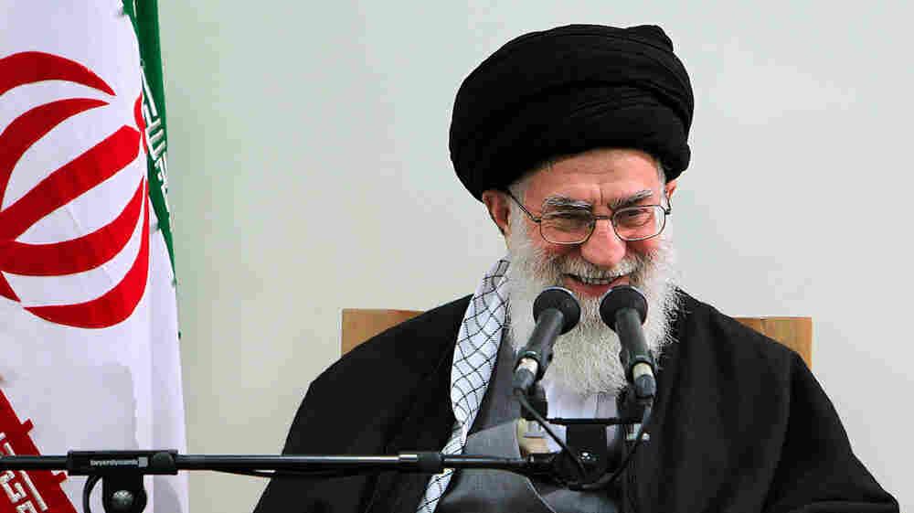 Iran's supreme leader, Ayatollah Ali Khamenei, addresses a meeting in Tehran on Thursday. Khamenei is a staunch defender of Iran's nuclear program.