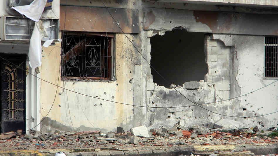 Feb. 11, 2012: some of the damage in the Baba Amr district of Homs, Syria.