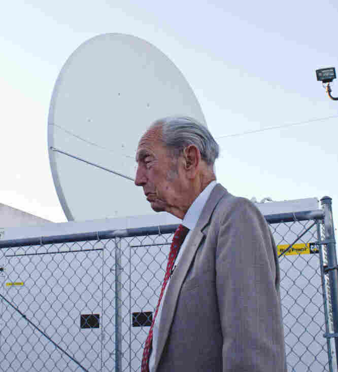 Harold Camping inside the Family Radio compound in Oakland, Calif.