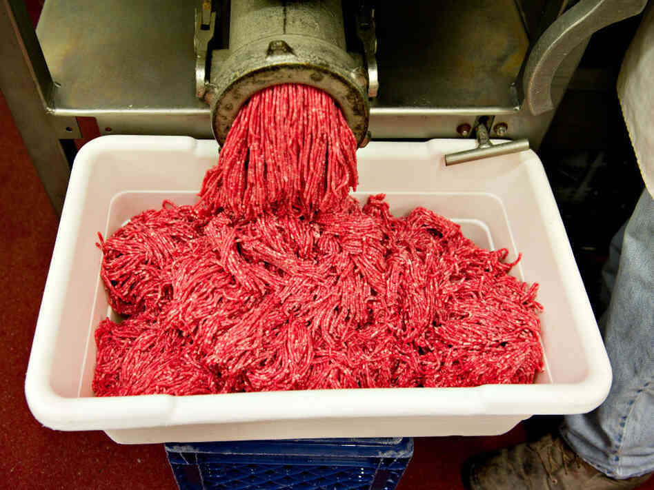 """Lean, finely textured meat"" made from beef trimmings is often added to ground beef as a cheap filler"
