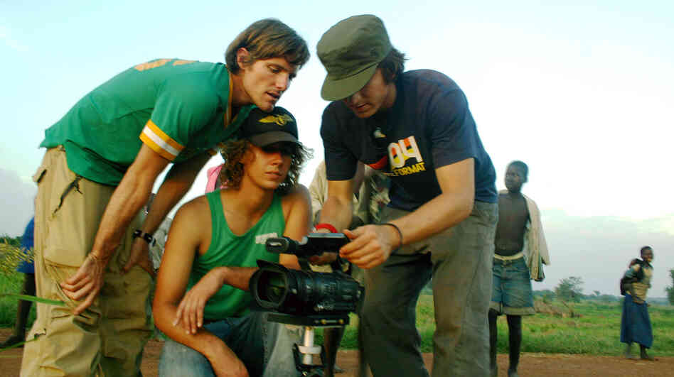 Invisible Children, the group that released the Joseph Kony video that went viral this week, has been making films about Kony for years and targeting young people as the main audience. Here, the group's co-founders, Jason Russell (left), Bobby Bailey (center) and Laren Poole, record footage in Africa in 2007.