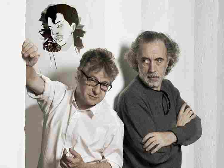 Javier Mariscal (left) and Fernando Trueba directed Chico & Rita along with Tono Errando.