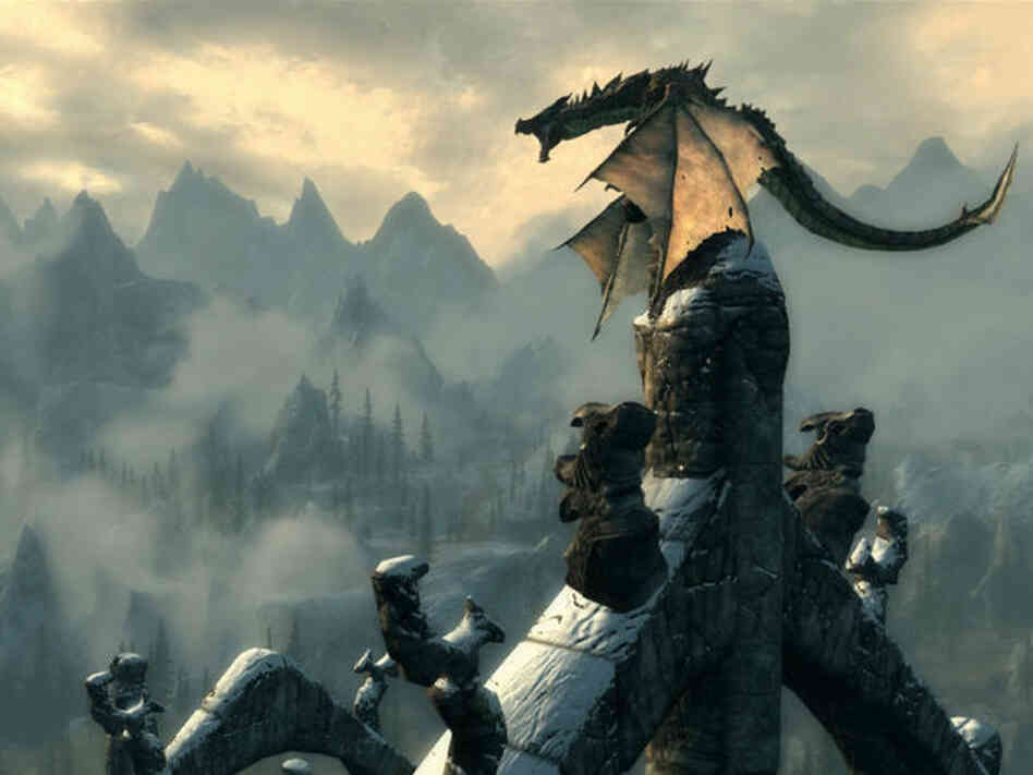 In the popular video game The Elder Scrolls V: Skyrim, the player fights ancient dragons and can learn their secrets in order to harness their powers.