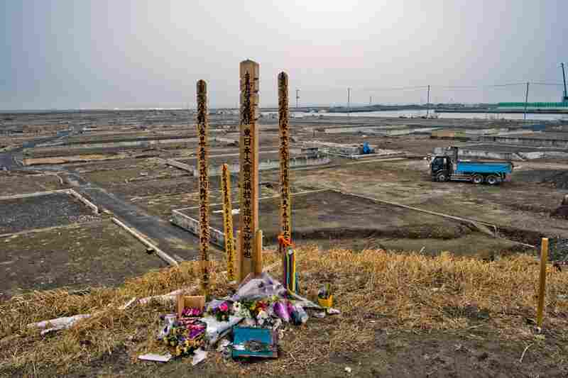 A memorial for those killed by the tsunami in Yuriage.