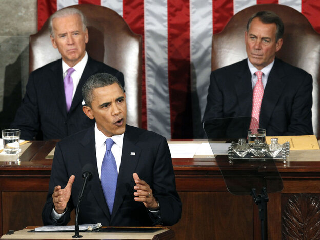 President Obama gives his big jobs proposal speech, Sept. 8, 2011.