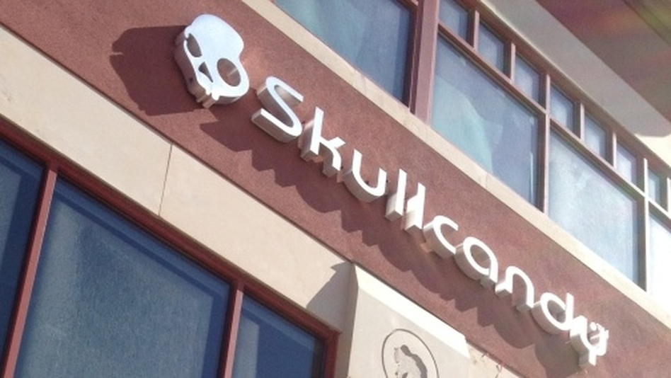 Skullcandy executive Jeremy Andrus says the company's mountainside location in Park City, Utah, is a defining part of its culture.  (NPR)