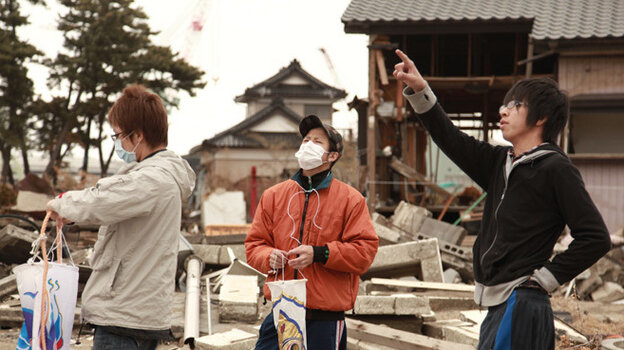 High-school student Kento Ito (right) and friends prepare for a Children's Da