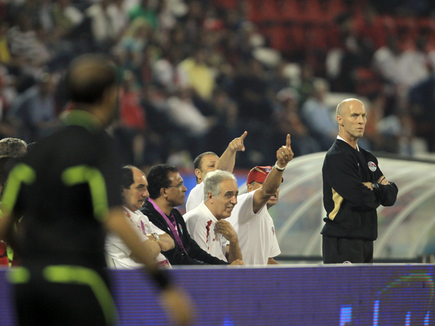 As an American coaching a foreign team, the language barrier is one of the challenges Bob Bradley faces. He relies on Arabic-speaking assistants to translate for his players, most of whom don't speak English.