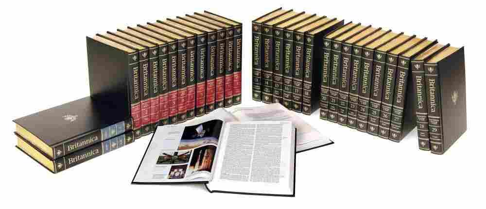 An Encyclopædia Britannica print set.