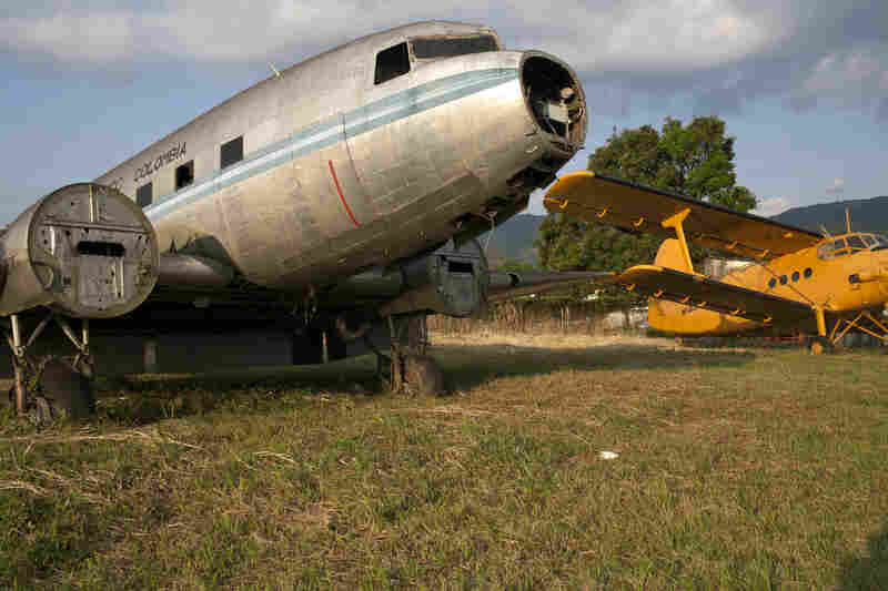 An abandoned DC-3 stands at Villavicencio's airport as a monument to the army of such planes that once served the region and a reminder of the pitfalls of faulty maintenance.