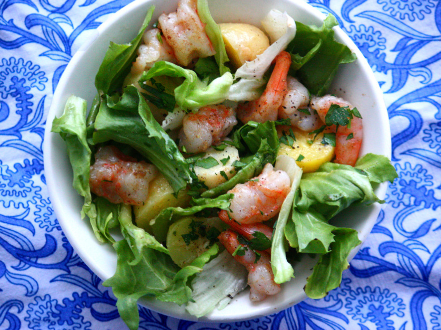 Recipe Sauteed Shrimp Potato And Escarole Salad Npr