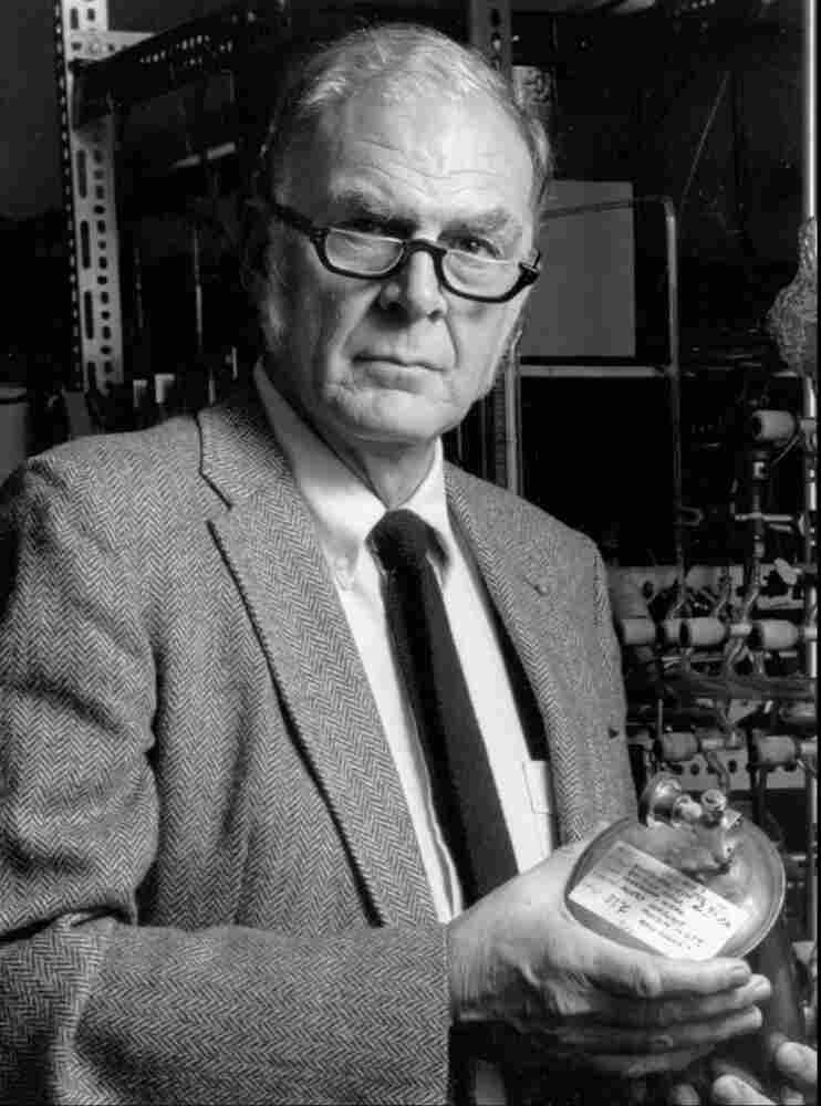 F. Sherwood Rowland, pictured here in 1989, was one of three chemists who shared the 1995 Nobel Prize for chemistry for work on discovering chemicals that deplete the Earth's ozone layer.