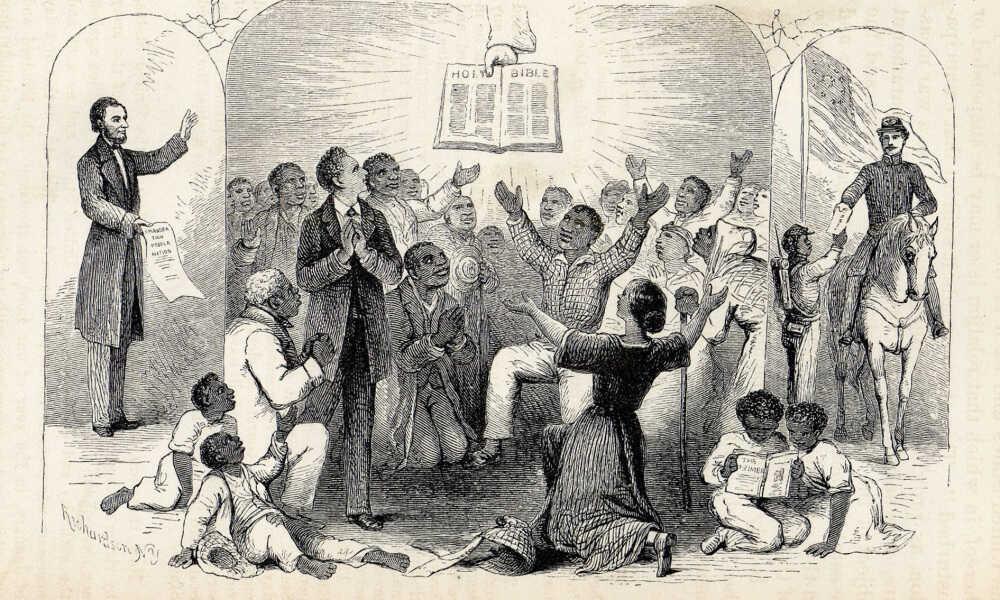 Richardson's 1865 woodcut Proclamation Emancipation