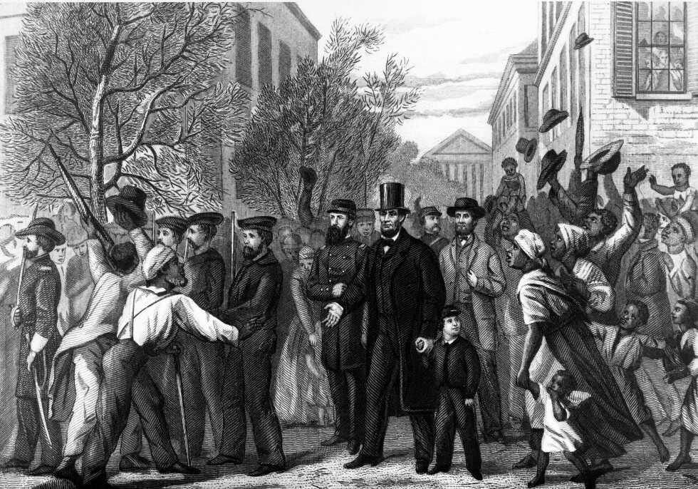 Abraham Lincoln Entering Richmond, 1865