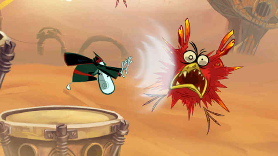 A screenshot from Rayman Origins, from Ubisoft.