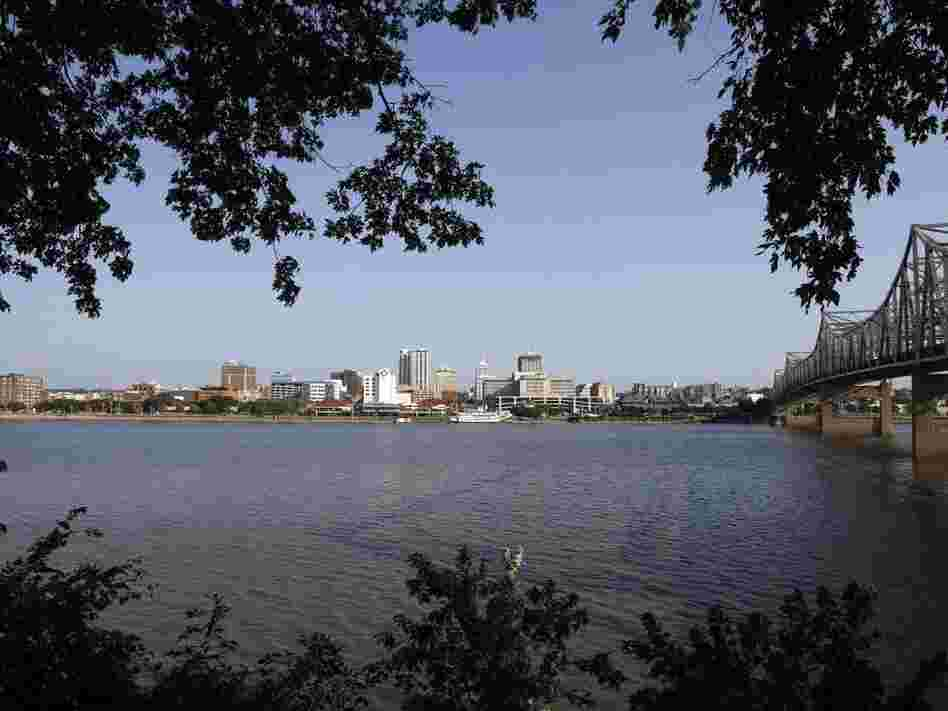 Peoria, Ill., as seen from across the Illinois River.