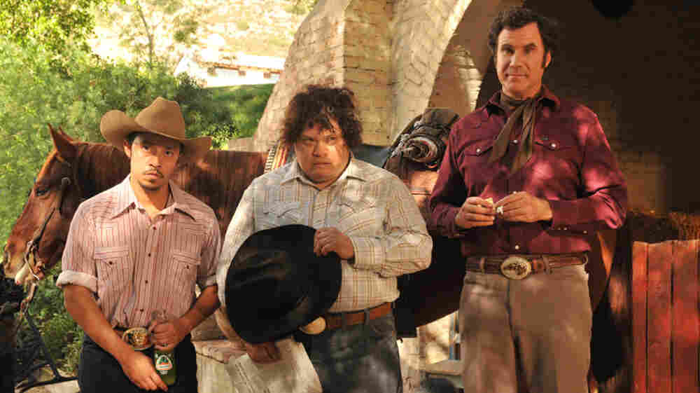 Will Ferrell plays sweet, simple ranch hand Armando Alvarez, who works his father's spread with Esteban (Afren Ramirez, left) and Manuel (Adrian Martinez).
