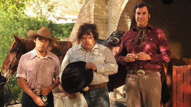 Will Ferrell plays sweet, simple ranch hand Armando Alvarez, who works his father's spread with Esteban (Afren Ramirez, left) and Manuel (Adrian Martinez).