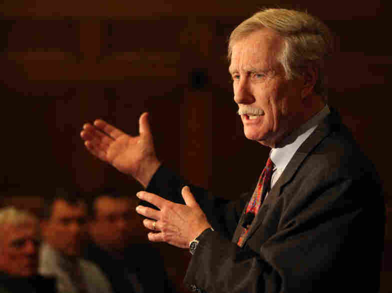 Former Maine Gov. Angus King has been out of office since 2003. He currently teaches at Bowdoin College in Brunswick, Maine.