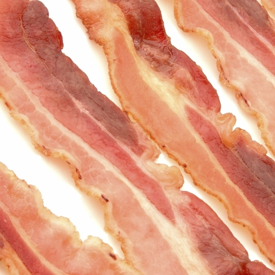 Slices of bacon.