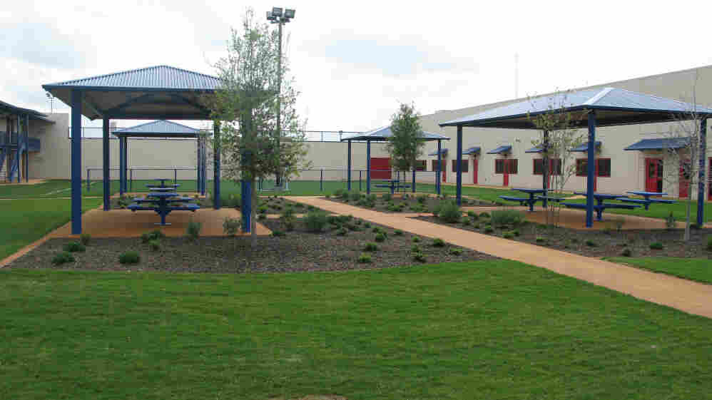 The Karnes County Civil Detention Center in Texas has outdoor spaces and other features meant to make immigrant detention less like prison. It will house mostly low-risk, nonviolent offenders.