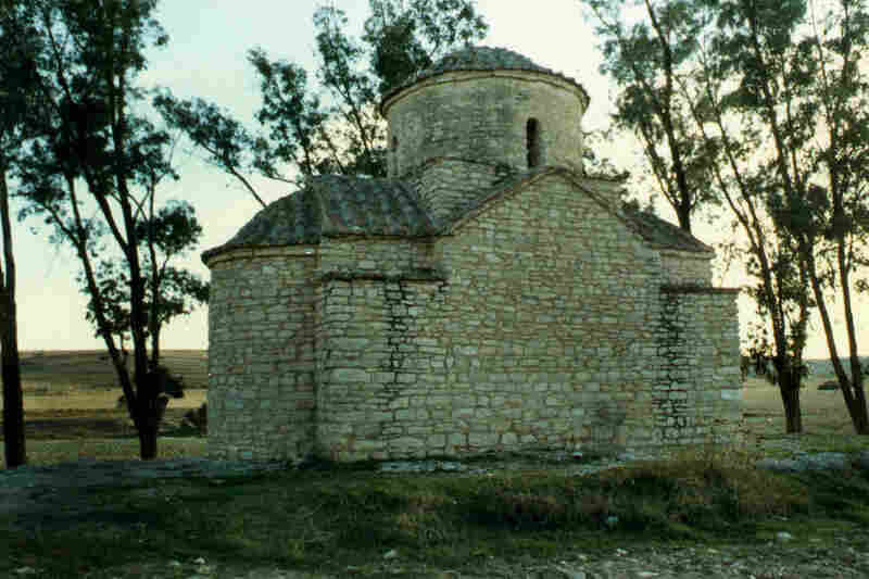 The frescoes won't return here to St. Evphemianos in Lysi because Turkey still occupies the region.