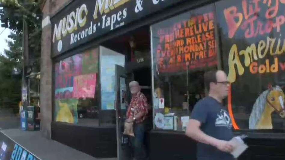 The storefront of Music Millennium, Portland's premier independent record store. (WXPN)