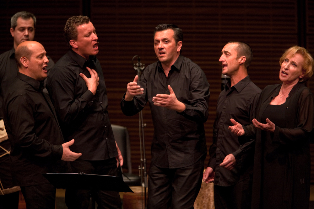 "The male vocal ensemble Barbara Furtuna, from Corsica, join vocalist Lucilla Galliazzi and the members of L'Arpeggiata for a performance of ""Via Crucis"" at Carengie Hall."