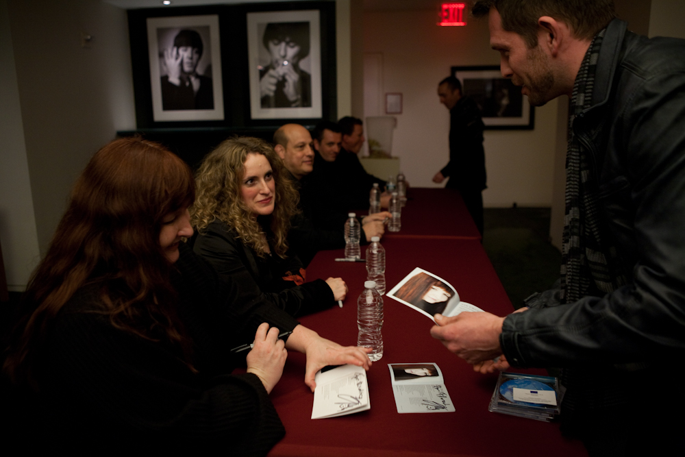 After the performance, Christina Pluhar (left) and musicians greeted audience members and signed CDs.