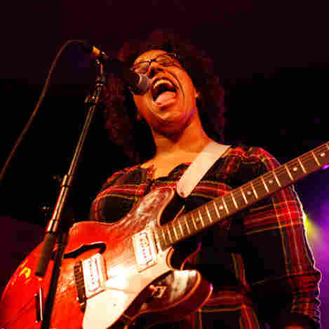 The Alabama Shakes' lead singer, Brittany Howard, onstage at NPR Music's SXSW showcase at Stubb's Wednesday night.