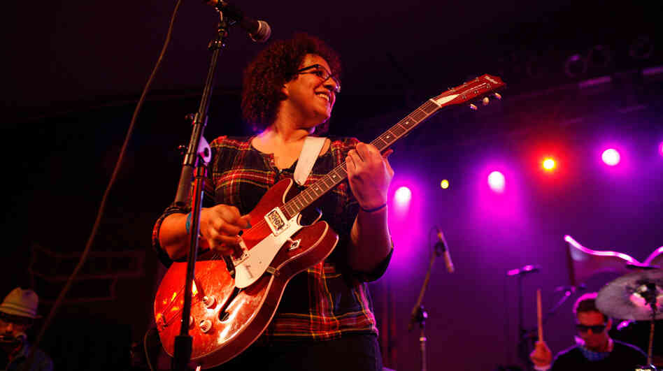 Brittany Howard of Alabama Shakes won over the crowd at Stubbs — as well as NPR Music's crew — during the band's set at SXSW in Austin, Texas.