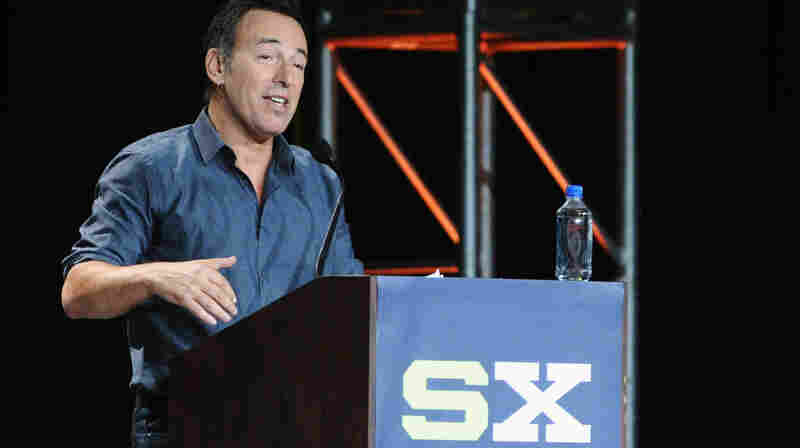 """""""Human expression is not confined to guitars."""" In his keynote address at SXSW Bruce Springsteen spoke of his love for pop of all flavors."""
