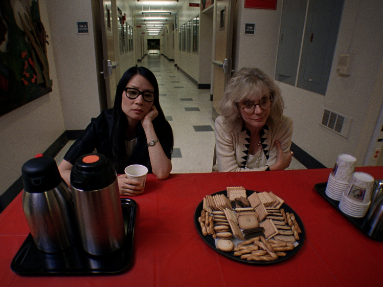 Lucy Liu and Blythe Danner play educators struggling to maintain order with students and in their own lives.