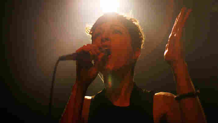 Channy Leaneagh of the Minneapolis-based band Polica, at NPR's SXSW day party in Austin, Texas.