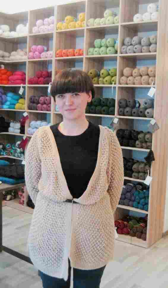 Ruta Sluskaite, originally from Lithuania, decided to start her own knitting label after aunt lost her job.