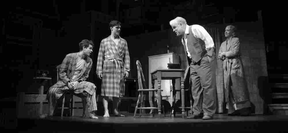 Philip Seymour Hoffman (center) is the latest Willy Loman in a new revival of Arthur Miller's classic, Death o