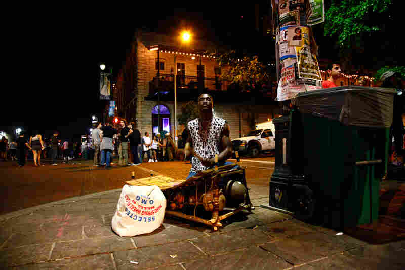Like hundreds of other musicians and fans, NPR Music arrived in Austin,  Texas, before the official start of SXSW 2012, including this balafon player.