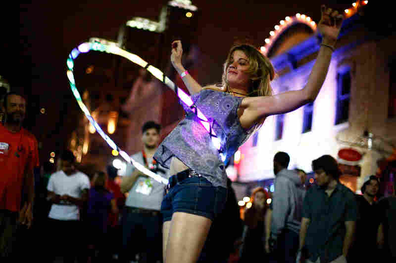 SXSW: Where glow-in-the-dark hula-hooping is considered sport.