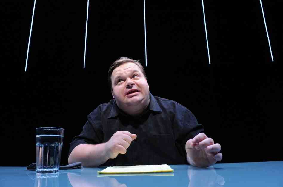 "Mike Daisey in a scene from ""The Agony and The Ecstasy of Steve Jobs."""
