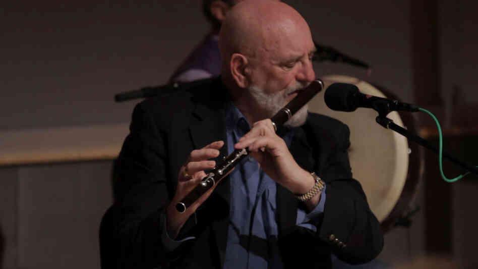 The Chieftains' longtime flutist Matt Molloy in action.