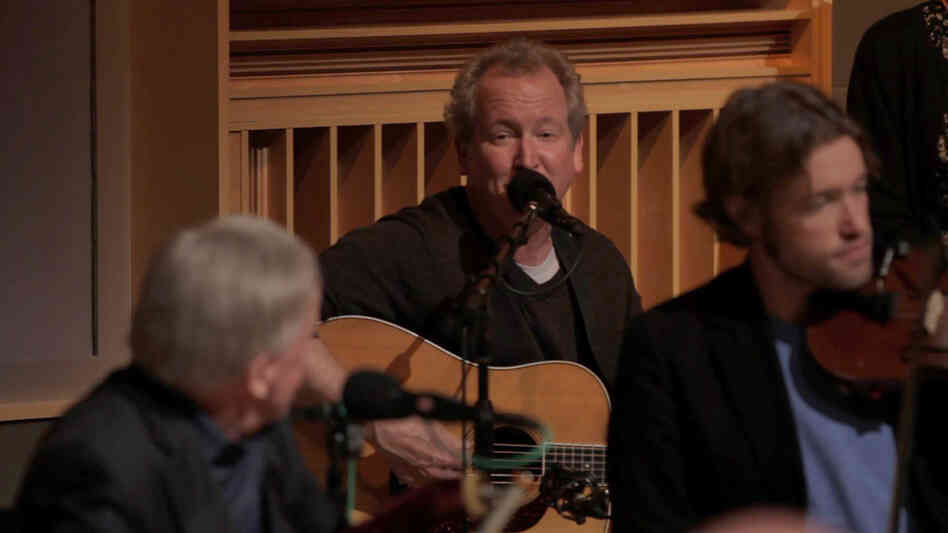 """Guitarist  Jeff White leads the vocals in """"Wabash Cannonball."""""""