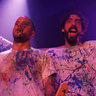 The paint-splattered members of Venezuelan rock band La Vida Boheme won over NPR Music's team on the second day of the SXSW festival in Austin, Texas.