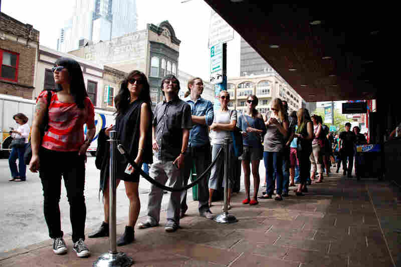 Can't tell if line to NPR Music's day party at The Parish or SXSW fashion show.