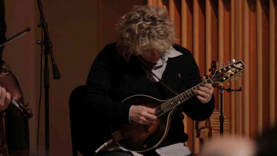 Fiddler Deanie Richardson takes a turn on the mandolin.