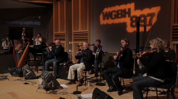 The Chieftains kicked off their North American tour at WGBH's Fraser Studio in Boston. (WGBH)