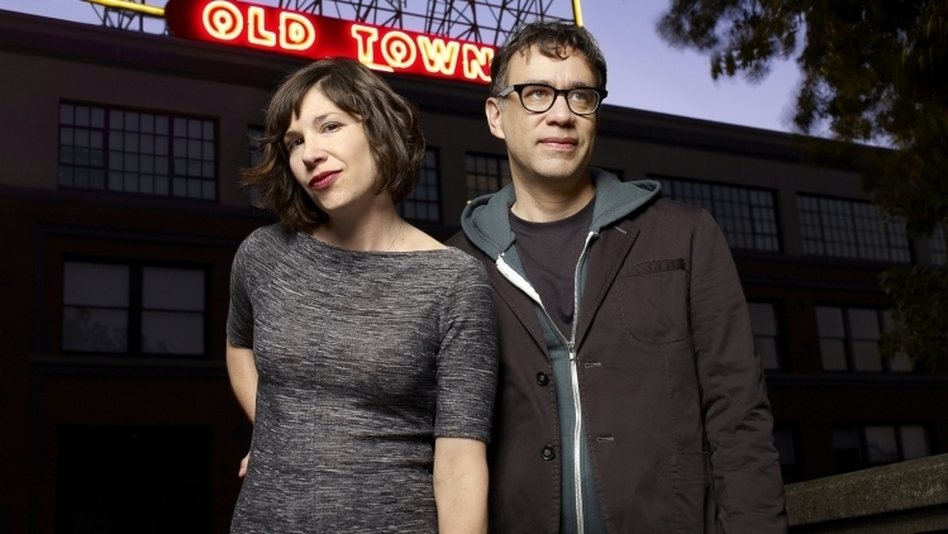 Carrie Brownstein and Fred Armisen, both veteran musicians, are the stars of the IFC comedy series <em>Portlandia</em>.