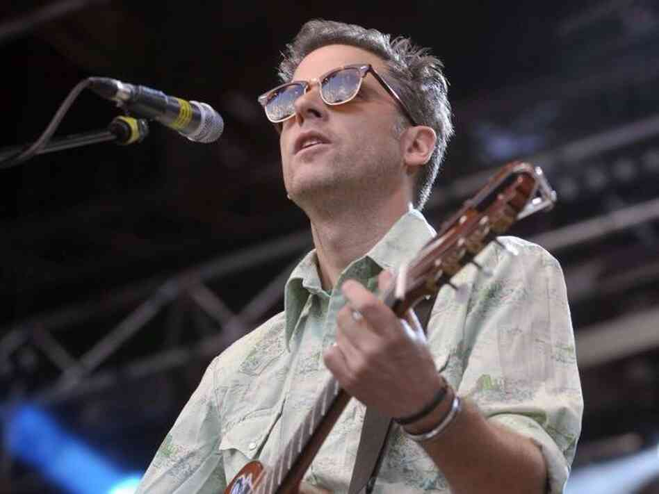 Calexico singer Joey Burns performs on the main stage during the 18th Rock Oz'Arenes festival in Avenches, Switzerland, in 2009.