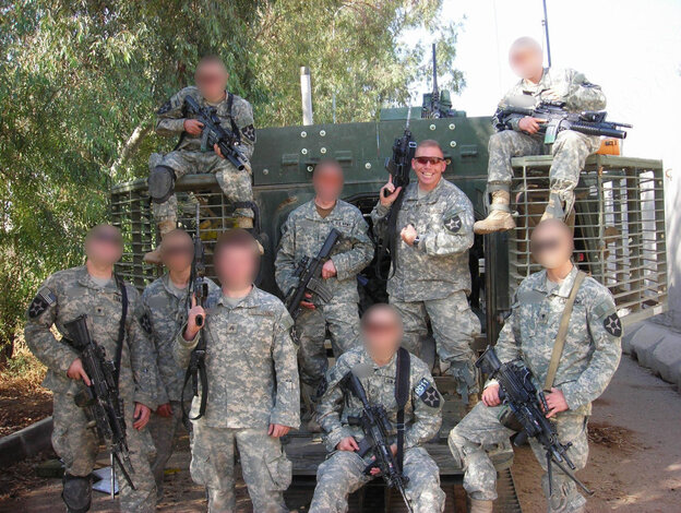 Then-Capt. Brent Clemmer said Staff Sgt. Robert Bales distinguished himself as a team leader in Clemmer's C Company, 2nd Battalion, 3rd Infantry Regiment during the Battle of Zarqa, Iraq. The faces of the rest of Bales' squad have been obscured.